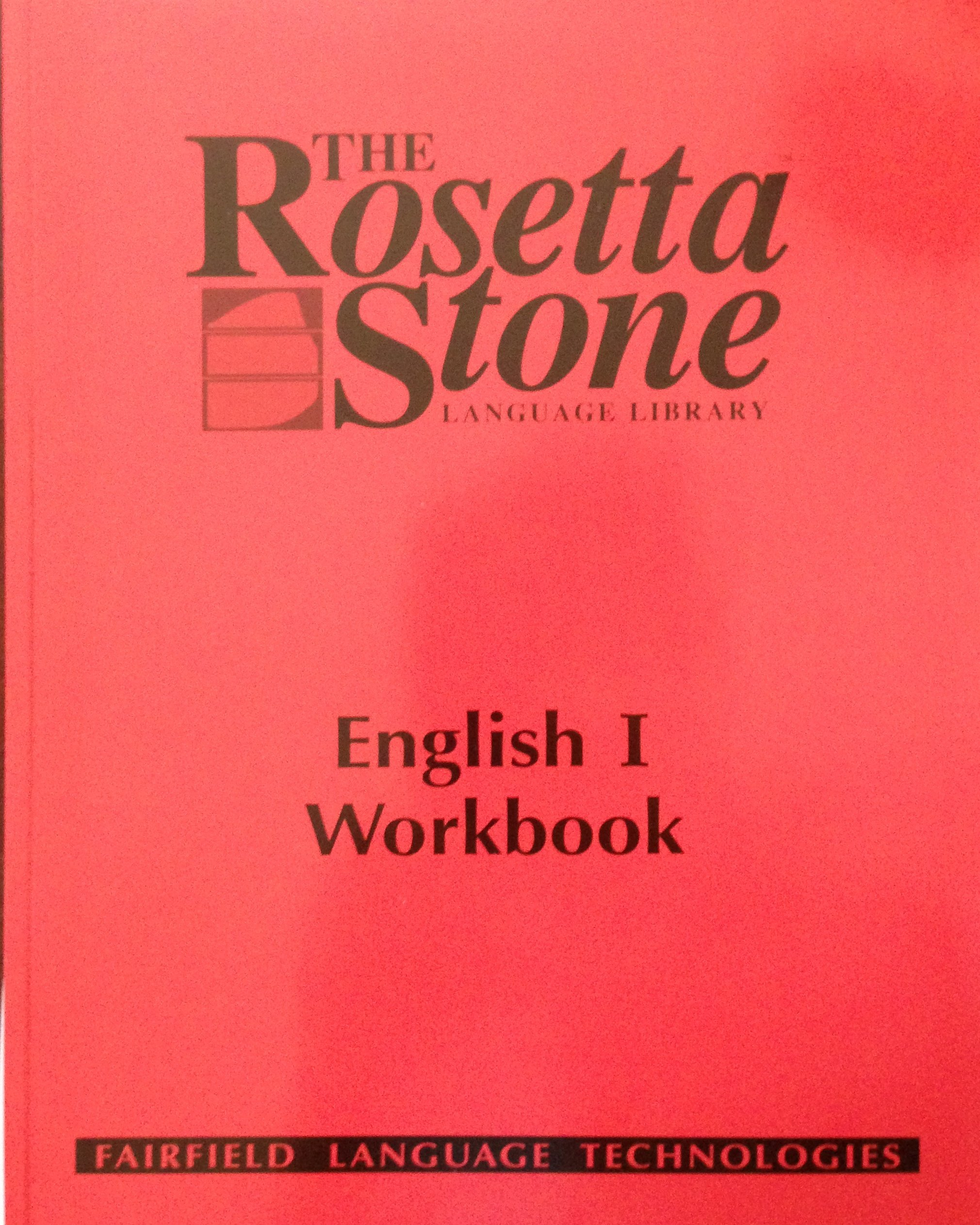 Rosetta Stone English Us Student Workbook Level 1 Rosetta Stone