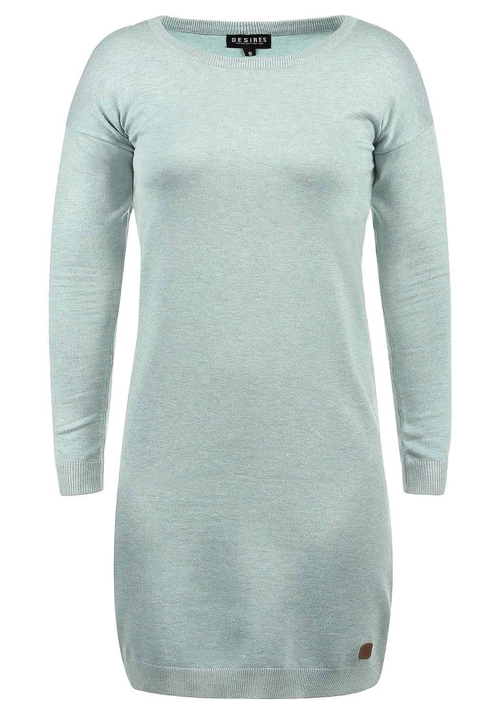 TALLA L. Desires Ella Vestido de Punto Vestidos Casuales para Mujer con Cuello Redondo Slate Gr (3579m) L