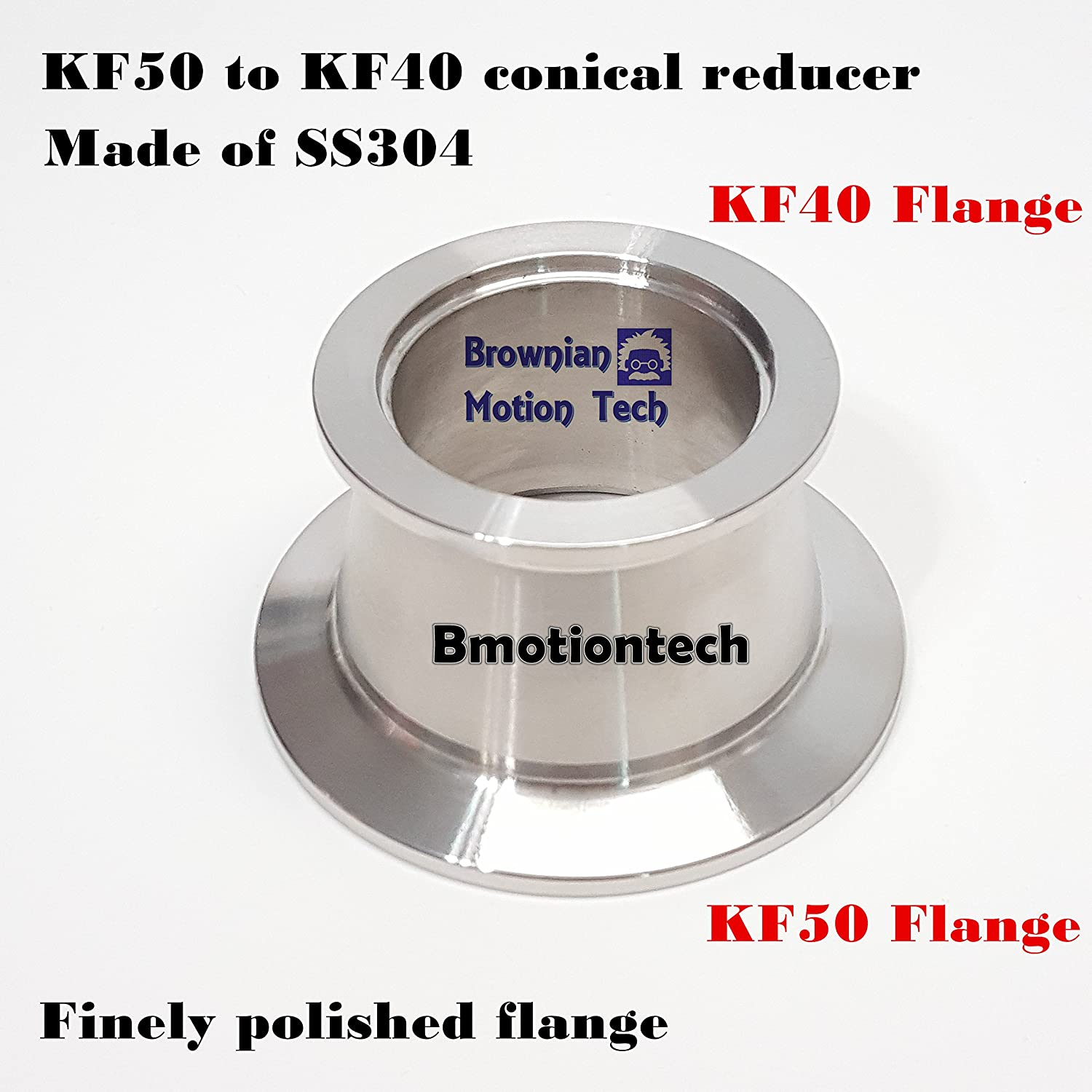 _BMT_ KF50 flange to KF40 Flange vacuum conical reducer, made of SS304, QF