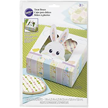 415-7929 Wilton On the Fence Bunny Treat Boxes, 3-Count