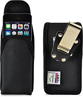 product image for Turtleback Belt Clip Case Compatible with Apple iPhone SE 5 5c 5s Black Vertical Holster Nylon Pouch with Heavy Duty Rotating Belt Clip Made in USA