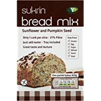 Sukrin Sunflower and Pumpkin Seed Low Carb Free-From Bread Mix. Low Fat,