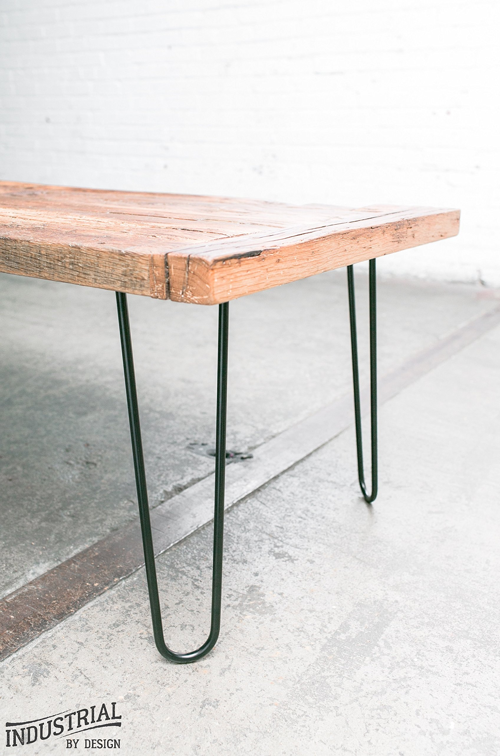Industrial By Design - 12'' Hairpin Legs (Satin Black) - Industrial Strength - Mid Century Modern - Set of 4, Great for Table Legs