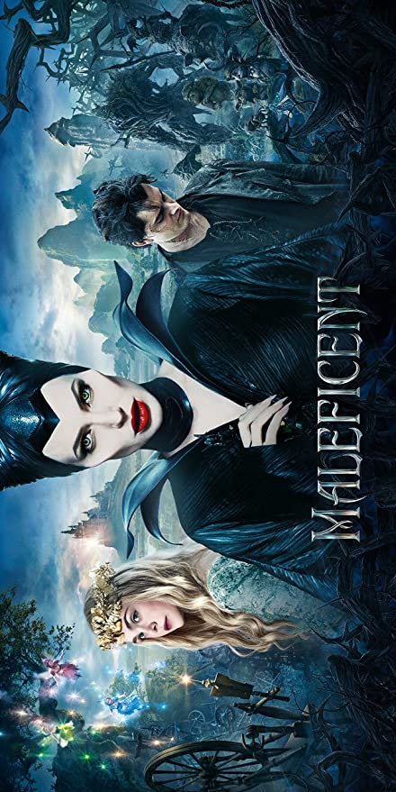 Amazon Com Wmg Maleficent 2014 12 X 24 Movie Poster Banner Thick Angelina Jolie Elle Fanning Sharlto Copley Posters Prints