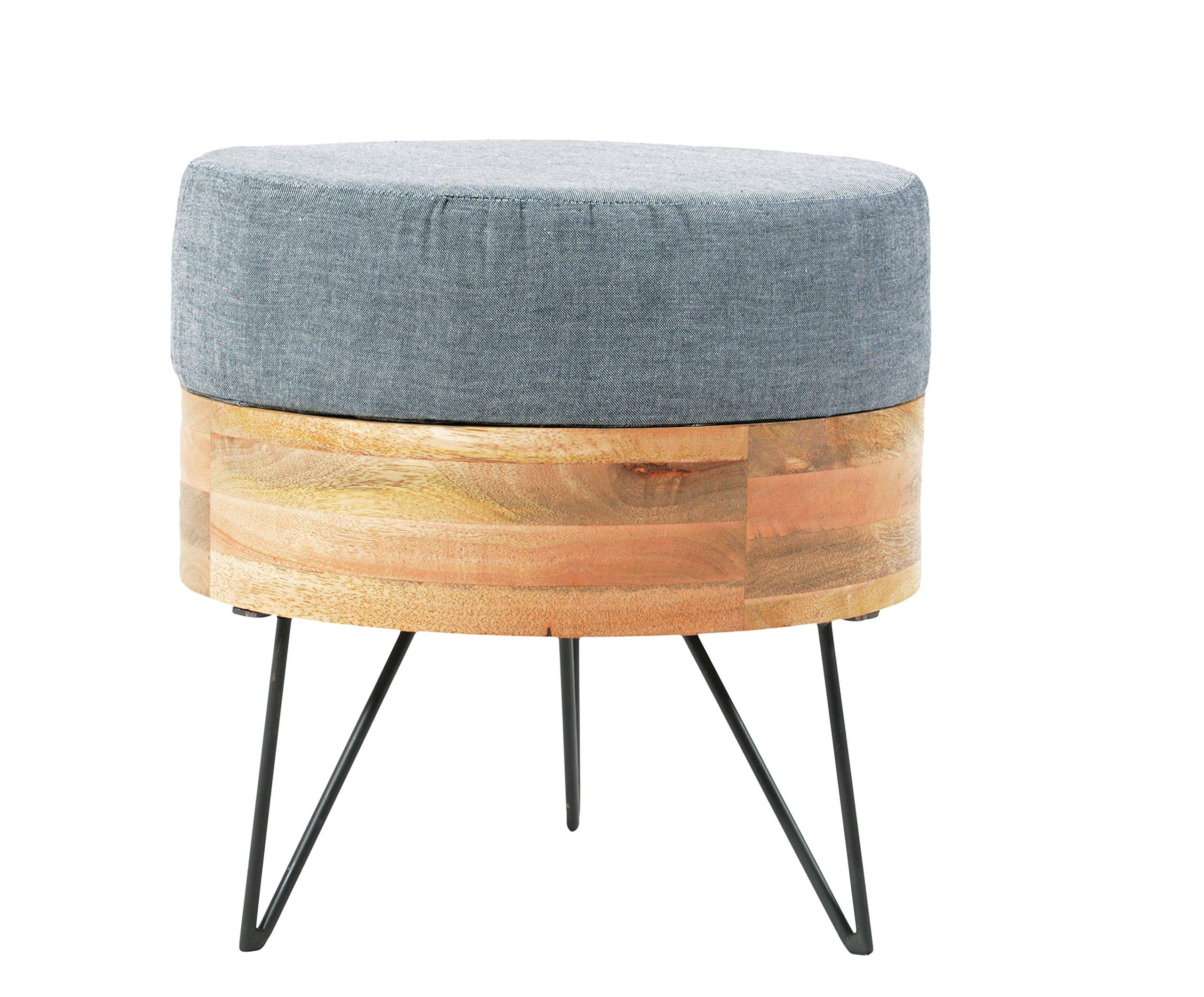 World Modern Design BZ-1025-24 Round Pouf, Natural by World Modern Design (Image #1)