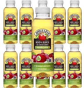 Apple & Eve Apple Juice, 100 % Juice, No Sugar Added, 10 oz, Pack of 10
