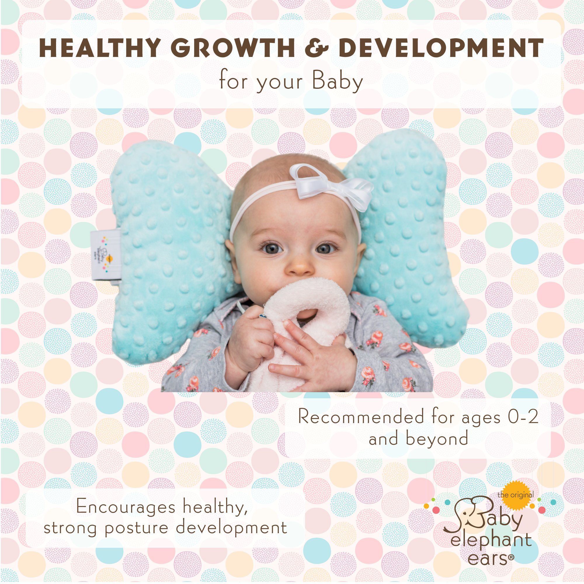 Original Baby Elephant Ears Head Support Pillow for Stroller, Swing, Bouncer, Changing Table, Car Seat, etc. (Woodland Wonder) by Original Baby Elephant Ears (Image #7)