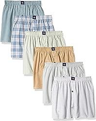 Joseph Abboud Boys 18 Pair Bonus Pack Woven Plaid Tartan Boxer Shorts - Assorted Plaid