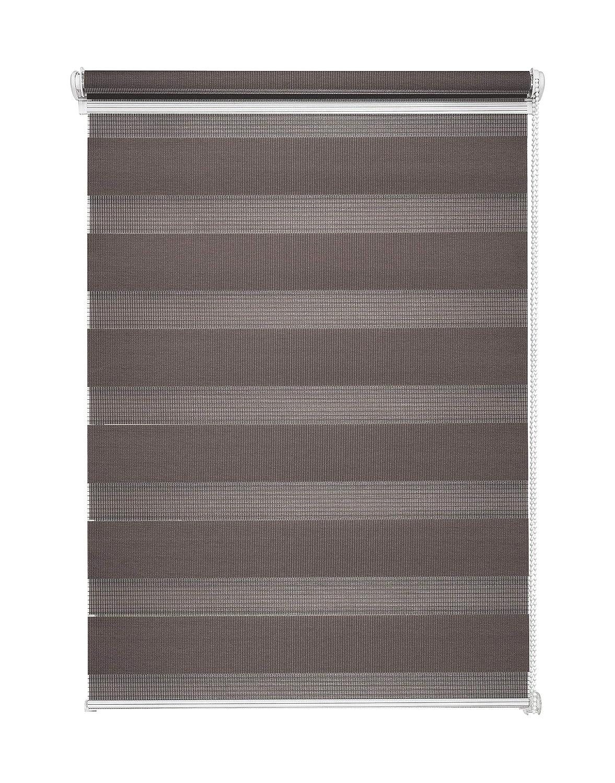 Store double Store duo gris dans différentes tailles sans perçage avec cordon latéral Pince Store, Tissu, gris, 45 x 150 cm Mardom