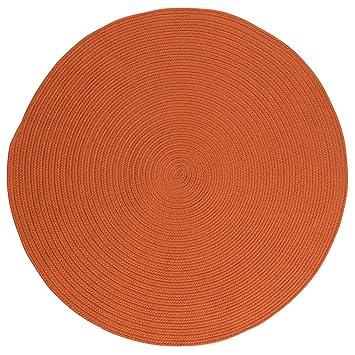 Attractive Indoor/Outdoor Rug, 10ft. X 10ft. Round Rust Stain/Fade Resistant