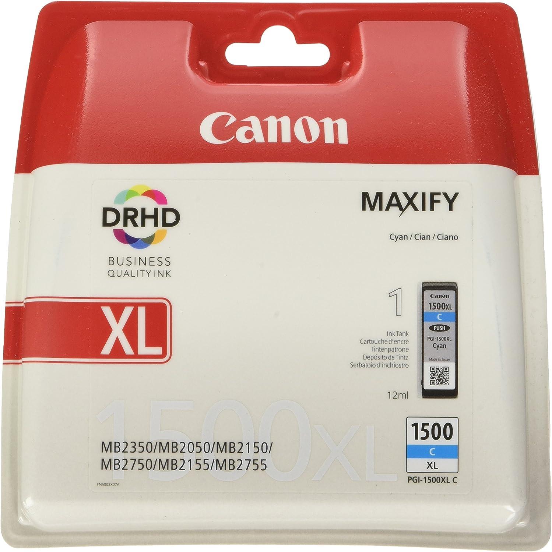 Canon Tintenpatrone Pgi 1500 Xl C Cyan 12 Ml Original Für Maxify Drucker Bürobedarf Schreibwaren