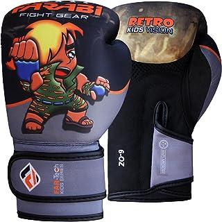 Farabi Retro Kids Boxing Gloves Warrior Series Gloves GreyBlack
