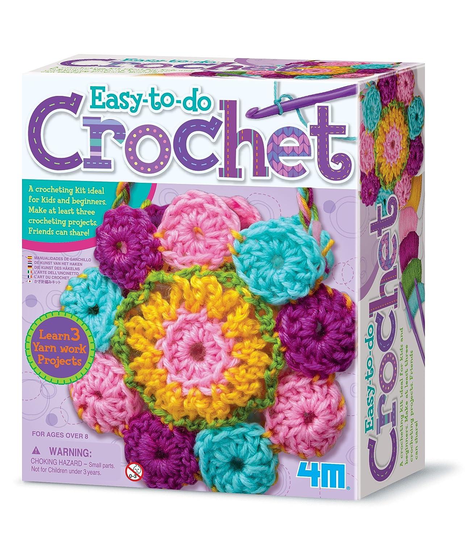 4m Easy To Do Crochet Kit Diy Arts Crafts Yarn Gift For Kids Teens Boys Girls
