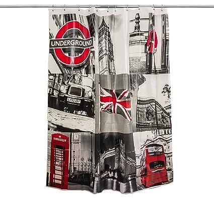 Greatest Amazon.com: Splash Home London Shower Curtain, 70 x 72-Inch, Grey  TU48