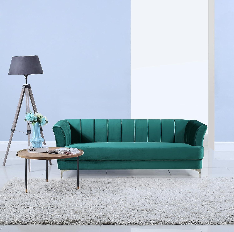 Amazon Elegant Classic Living Room Velvet Sofa Colors Blue