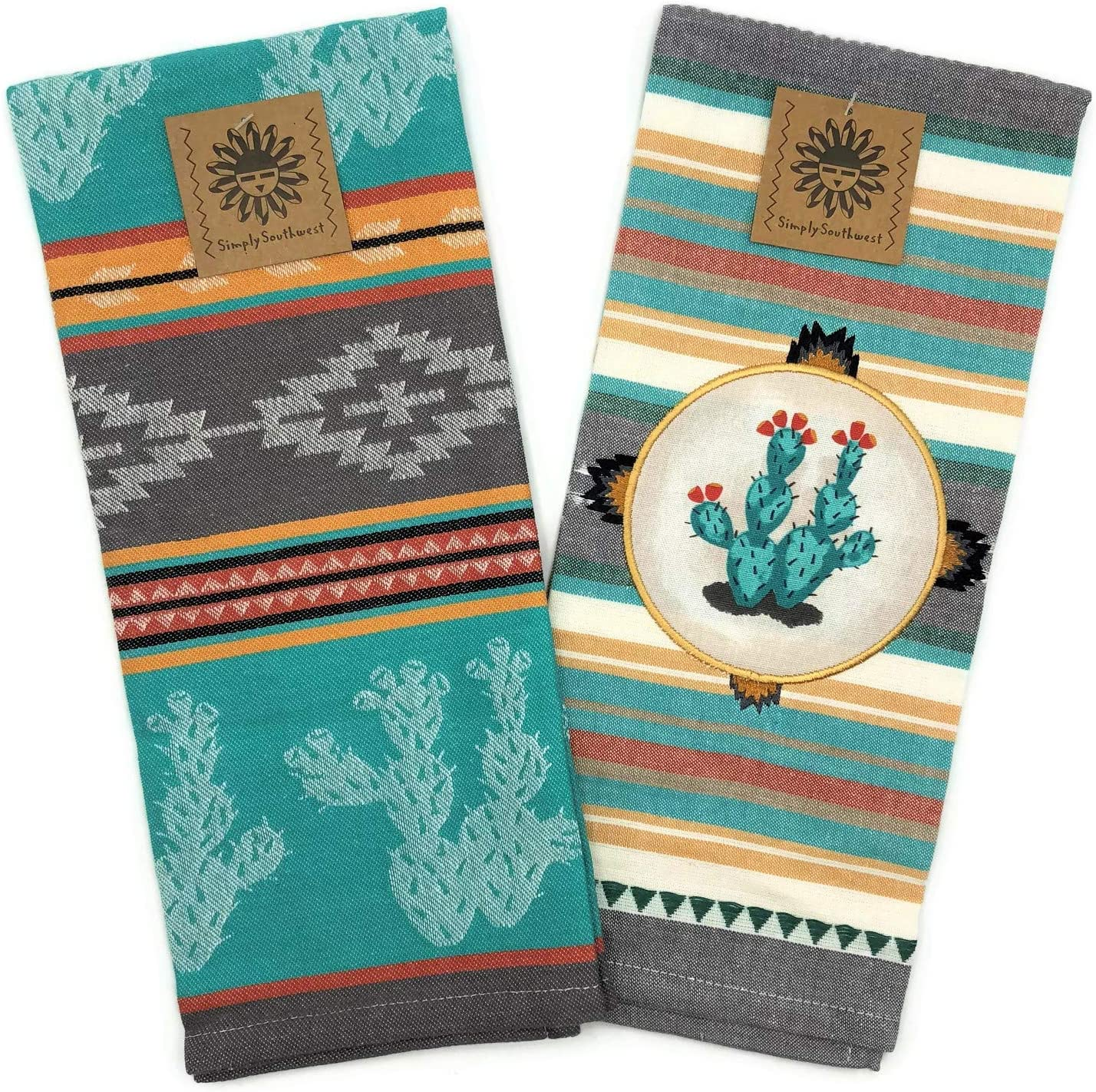 Kay Dee Designs Southwest Craze Appliqued and Jacquard Tea Towel Set