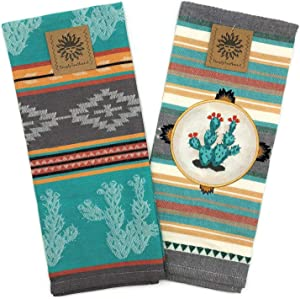Kay Dee Designs Southwest Craze Appliqued and Jacquard Tea Towel Set