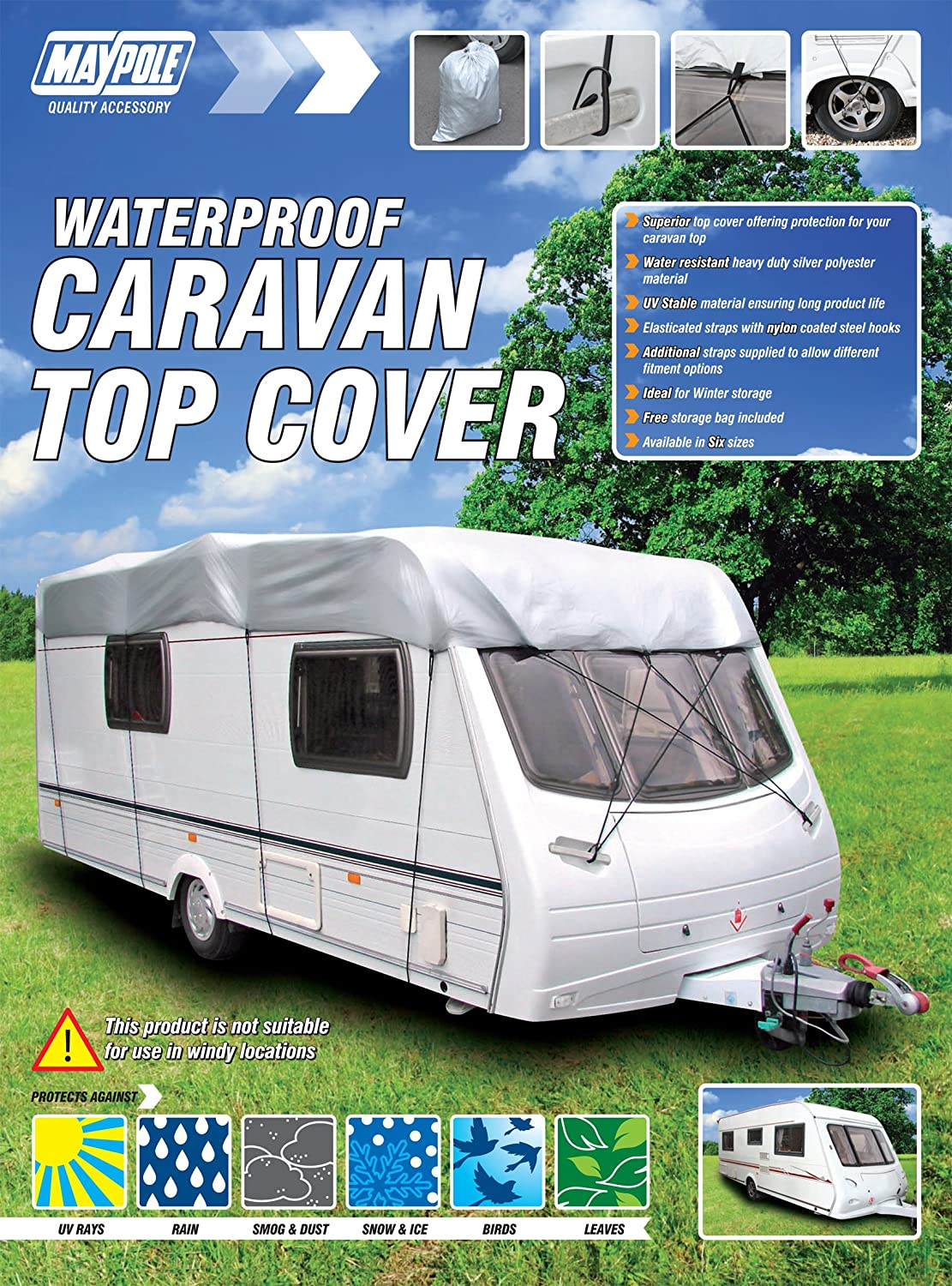 Maypole 9261 Caravan Top Cover Fits up to 4.1 m/ 14 ft