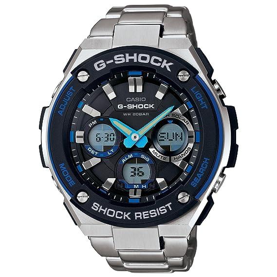 Casio G-Shock g-steel Esfera de color negro SS macho de cuarzo cronógrafo