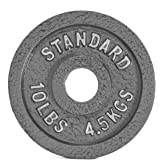 CAP Barbell Olympic 2-Inch Weight Plate, Gray, Single