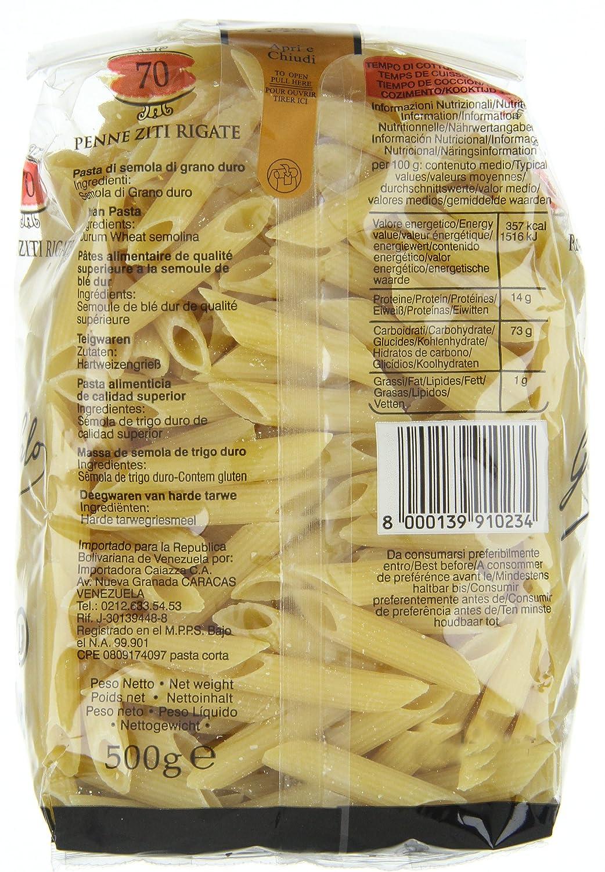 Penne Ziti Rigate Garofalo 16X500 500 Gr - [Pack De 16] - Total 8 Kg: Amazon.es: Alimentación y bebidas