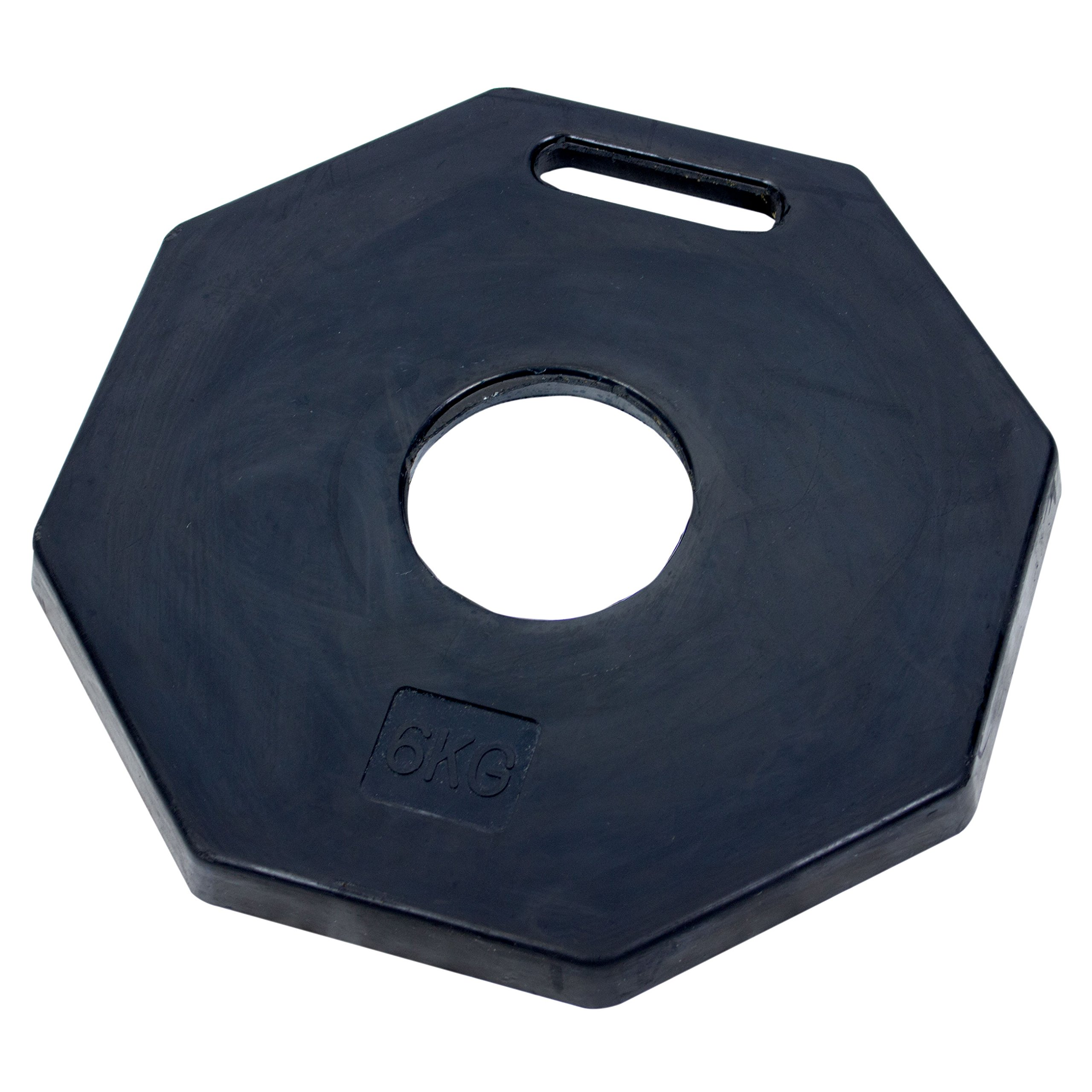 (Base Pack of 5) RK DPOST2T Polyethylene Portable Delineator 13 lbs Recycled Octagonal Rubber Base