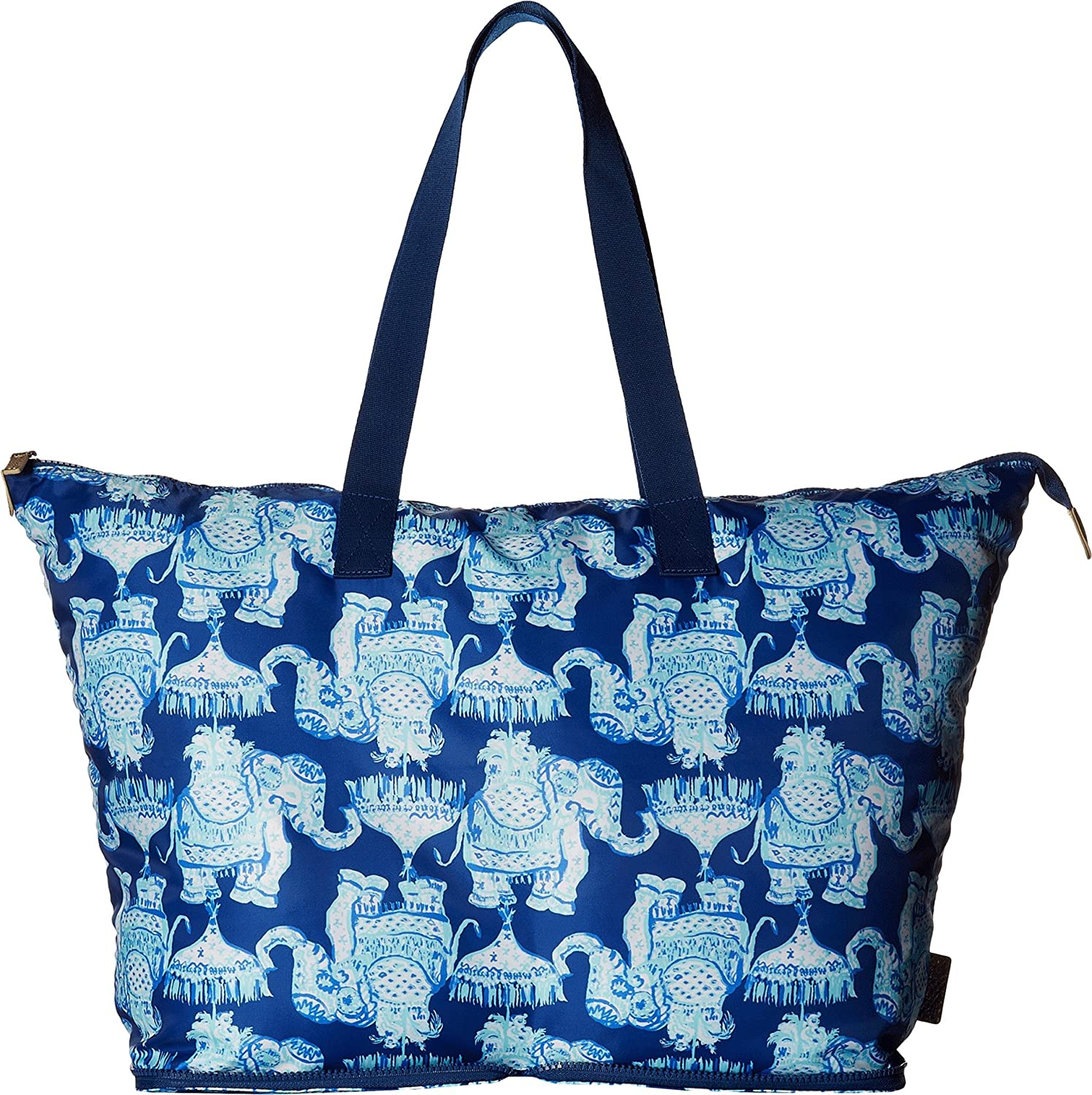 04e183df83 Amazon.com  Lilly Pulitzer Women s Getaway Packable Tote Deep Indigo Joy  Ride One Size  Shoes