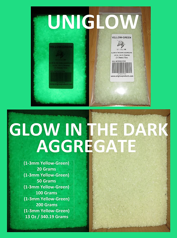 UniGlow 暗闇で輝く蛍光粉末染料  50g Aggregate 1-3mm 687928337366 B06XR8HRGQ 50g Aggregate 1-3mm|Aggregate YELLOW-GREEN Aggregate YELLOW-GREEN 50g Aggregate 1-3mm