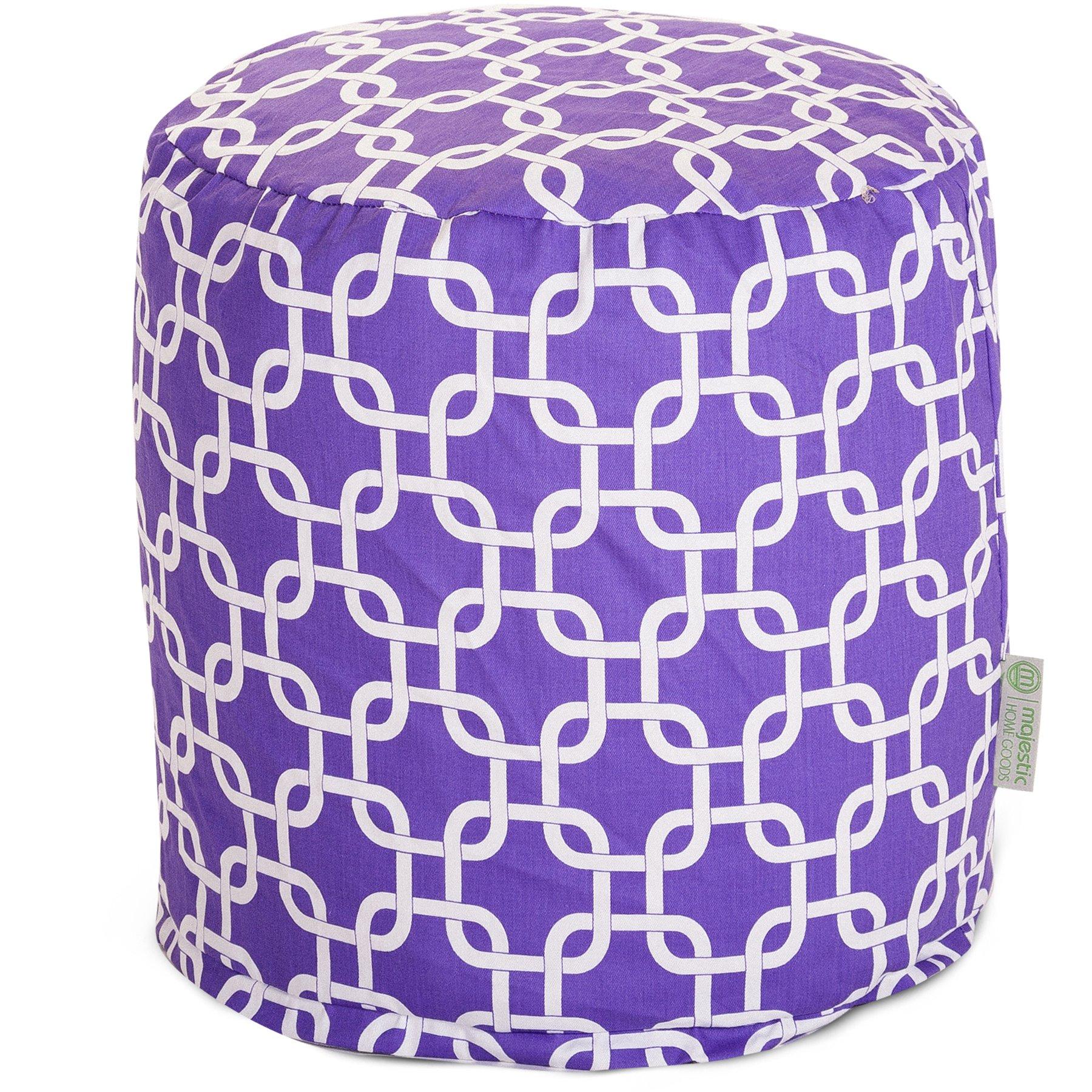 Majestic Home Goods Purple Links Small Pouf
