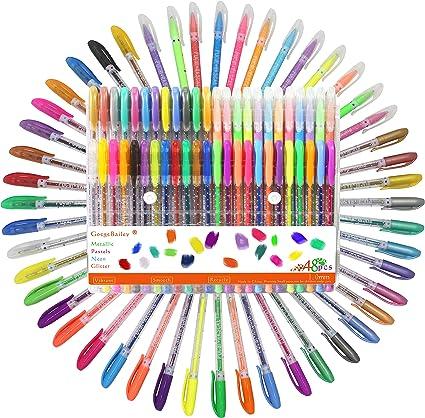 Bolígrafos de Gel, Incluye Brillo, Neón, Pastel, Metálico Para Scrapbooking, Colorear, Dibujar, Dibujar y Artesanal, Pack de 48,1.0mm: Amazon.es: Oficina y papelería