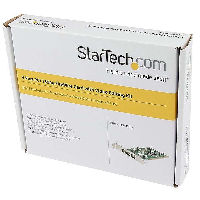 StarTech.com 4-Port PCI 1394a FireWire Adapter Card with Digital Video Editing Kit (PCI1394_4)