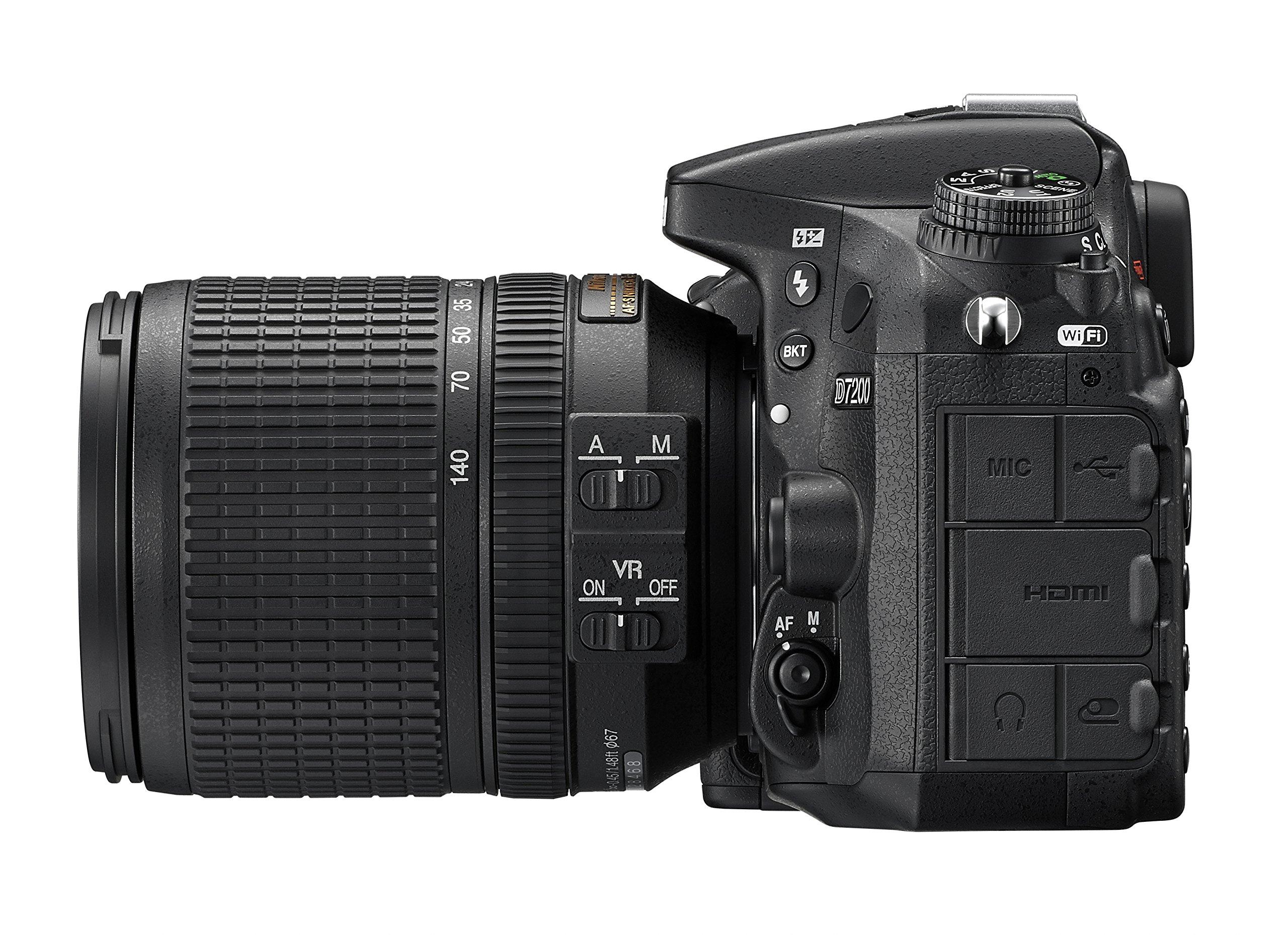 Nikon D7200 DX-format DSLR Body (Black) by Nikon