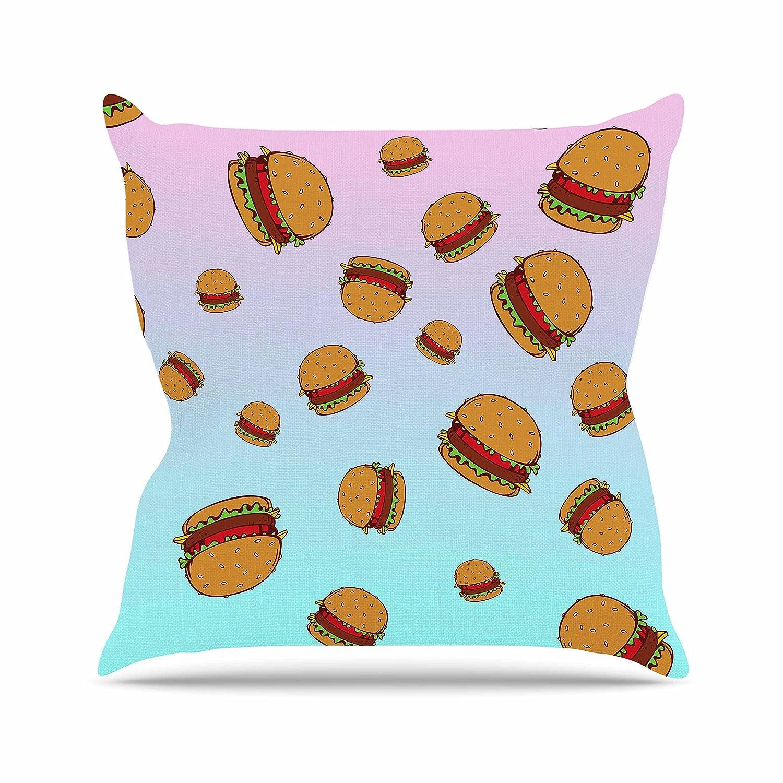 Kess eigene po1011aop0318x 18Juan Paolo Cheeseburger aus Paradise Pastell Blau Outdoor Werfen Kissen–mehrfarbig