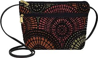 product image for Danny K Women's Tapestry Zipper Purse Crossbody Handbag, Adjustable Cord, Handmade in USA