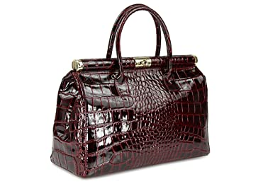 """fcac94f56f Image Unavailable. Image not available for. Colour  BELLI® """"The Bag XXL"""" Womens  Italian Genuine Leather Handbag Satchel Bag Patent Leather"""