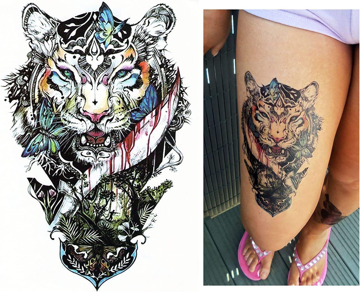 Tatuajes temporales Tempo rary Tattoo Fake Tattoo – De Tigre ...