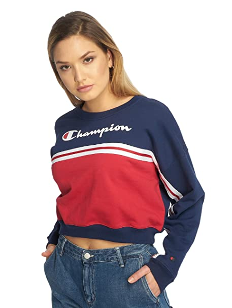 Champion Women Sweatshirt Crewneck Croptop 111309: Amazon.es: Ropa y accesorios