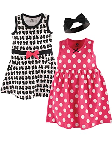 8ec6c6a843f Hudson Baby Baby Girls  3 Piece Dress and Headband Set