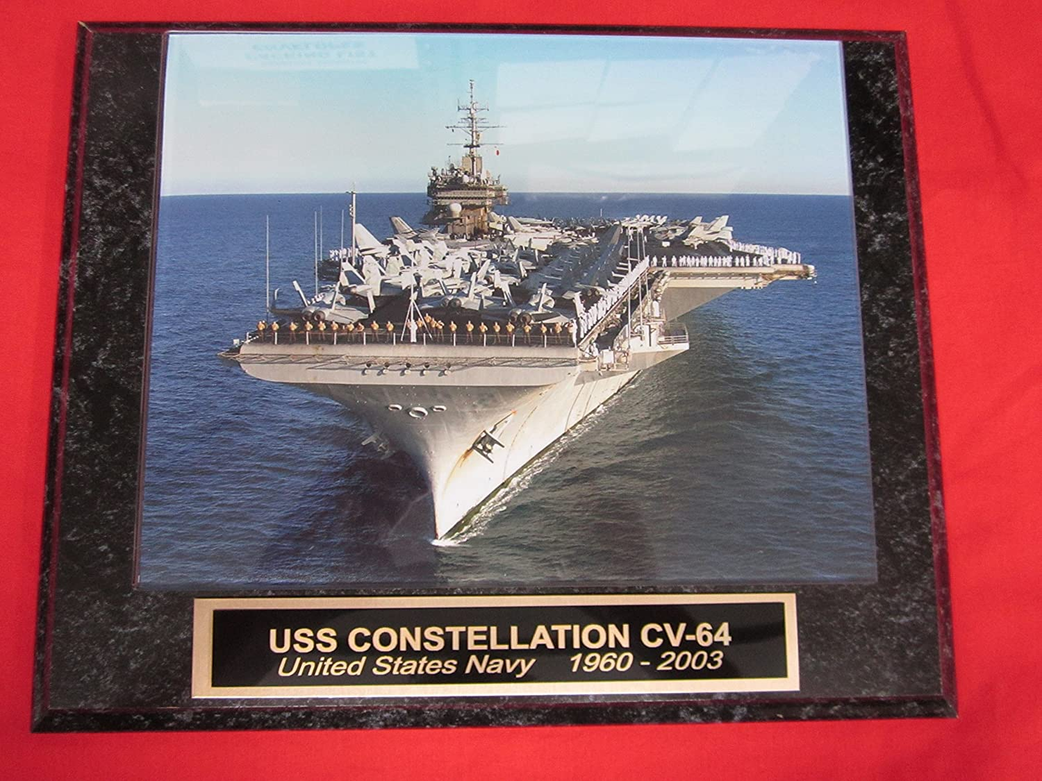 US Navy USS CONSTELLATION CV-64 Collector Plaque w/8x10 Photo!