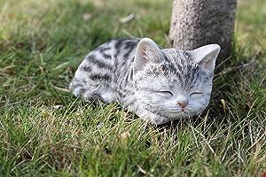 Hi- Line Gift 87699-C Kitten Sleeping Grey Tabby Cat Statue
