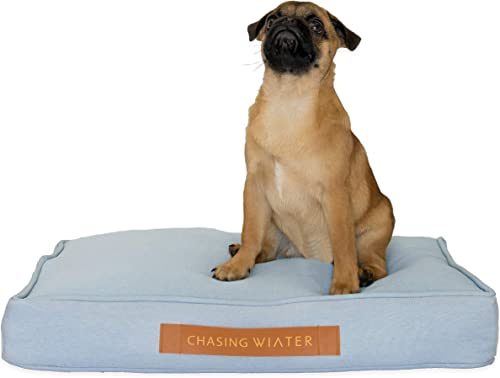 Chasing Winter Pet Beds Dog Beds Calming Bed for Dogs with Orthopedic Memory Foam, Removable Cover, Heavy-Duty Linen Look Cover