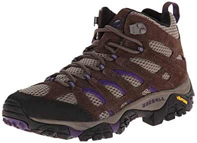 Merrell Women's Moab Ventilator Mid Hiking Boot,Bracken/Purple,5 ...