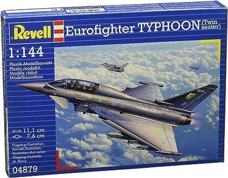 Revell Eurofighter Typhoon (Twin Seater) 1:144 Assembly Kit Fixed-Wing Aircraft - maquetas de aeronaves (1:144, Assembly Kit, Fixed-Wing Aircraft, Eurofighter Typhoon, Military Aircraft, De plástico): Amazon.es: Juguetes y juegos