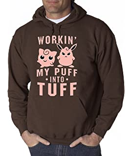 424e8fe0 allwitty 1020 - Hoodie Workin My Puff Into Tuff Jigglypuff Wigglytuff  Pokemon Unisex Pullover Sweatshirt
