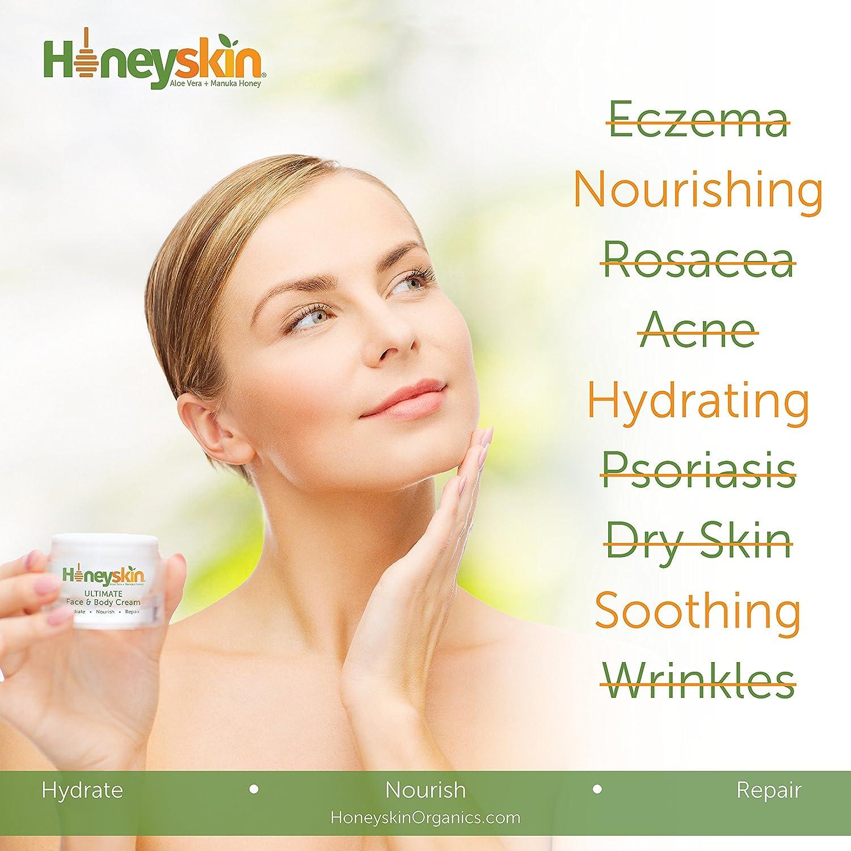 Amazon.com: Honeyskin Organics Aloe Vera + Manuka Honey Face and ...