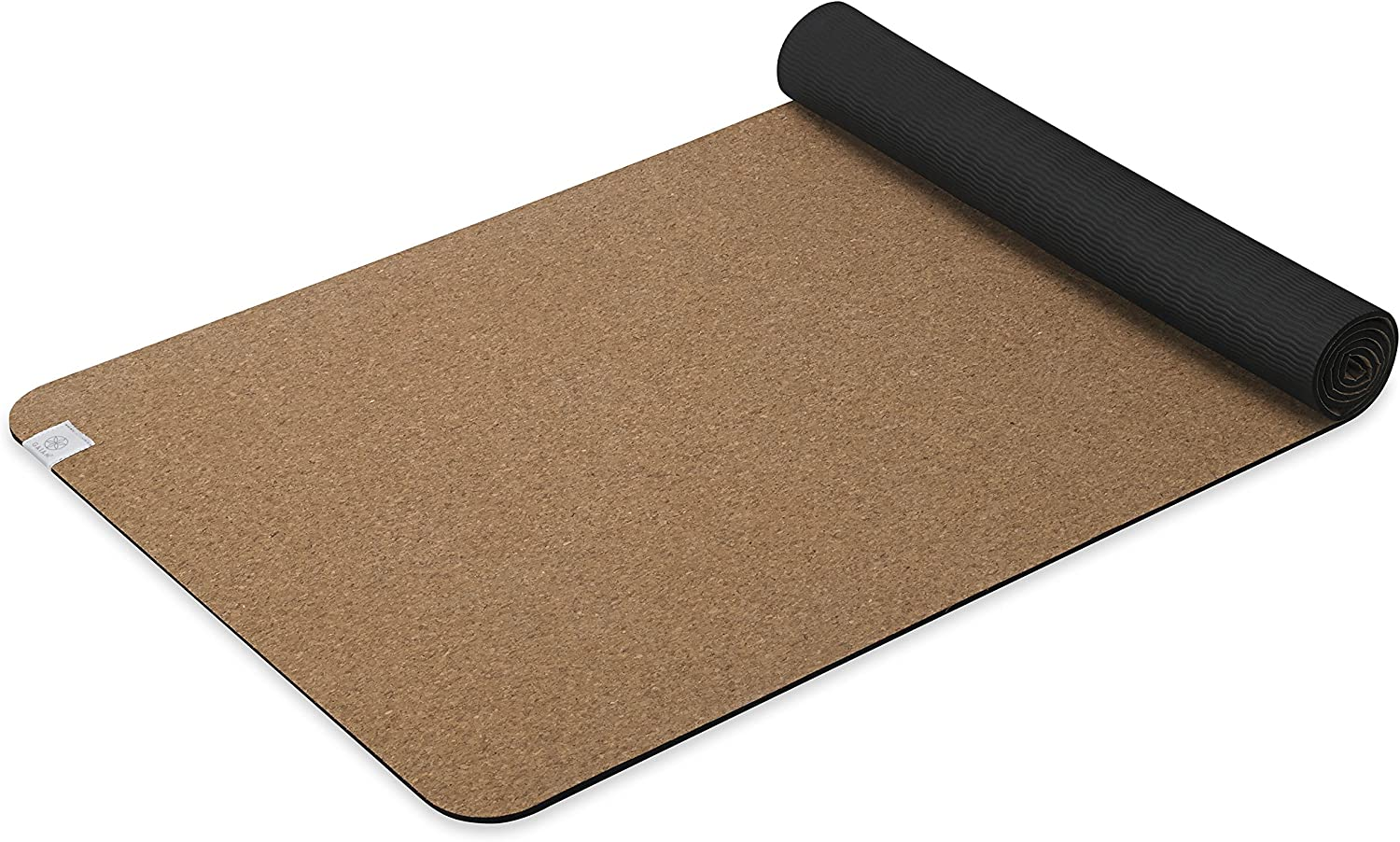 Gaiam Cork Yoga Mat | Natural Sustainable Cork Resists Germs and Odor | Non-Toxic TPE Rubber Backing | Great for Hot Yoga, Pilates (68-Inch x 24-Inch ...