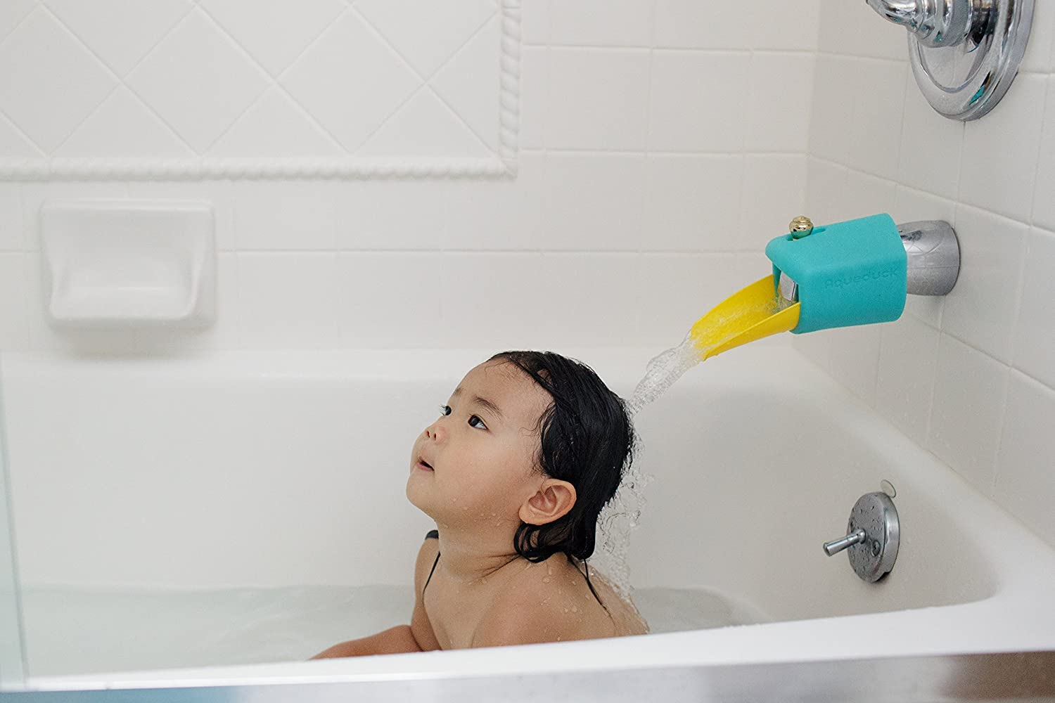 Amazon.com : Aqueduck Bath Spout Extender Plus Cover : Baby