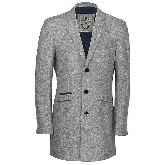 Cavani Mens Vintage Wool 3/4 Long Overcoat Tweed Crombie Smart ...