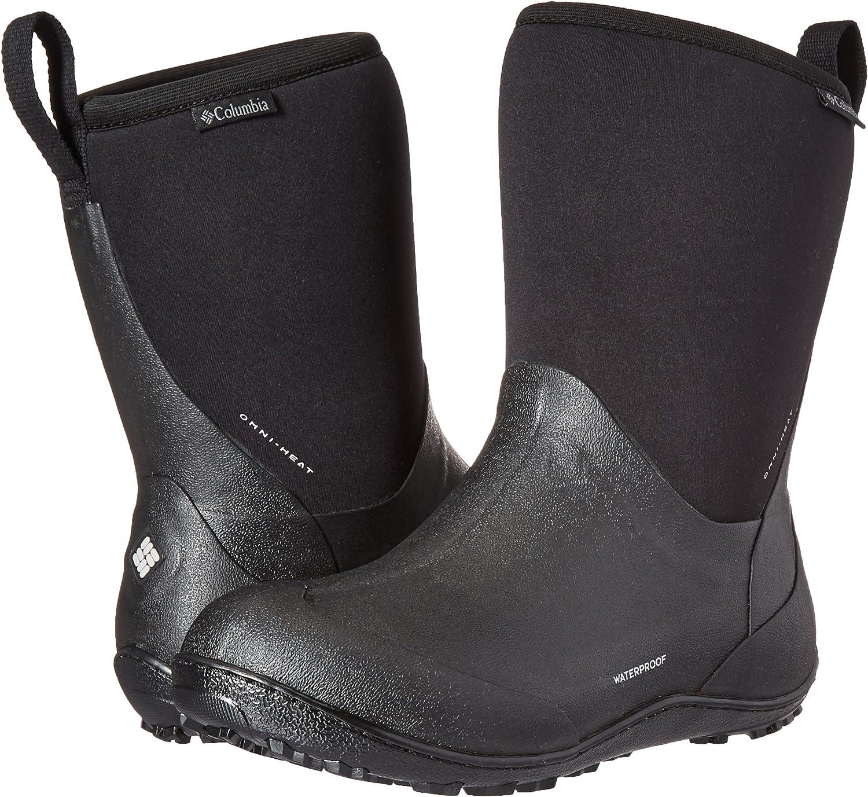 Columbia Womens 7 10.5 Snowpow Tall Omni Heat Boot Black//Light Grey Snow Rain