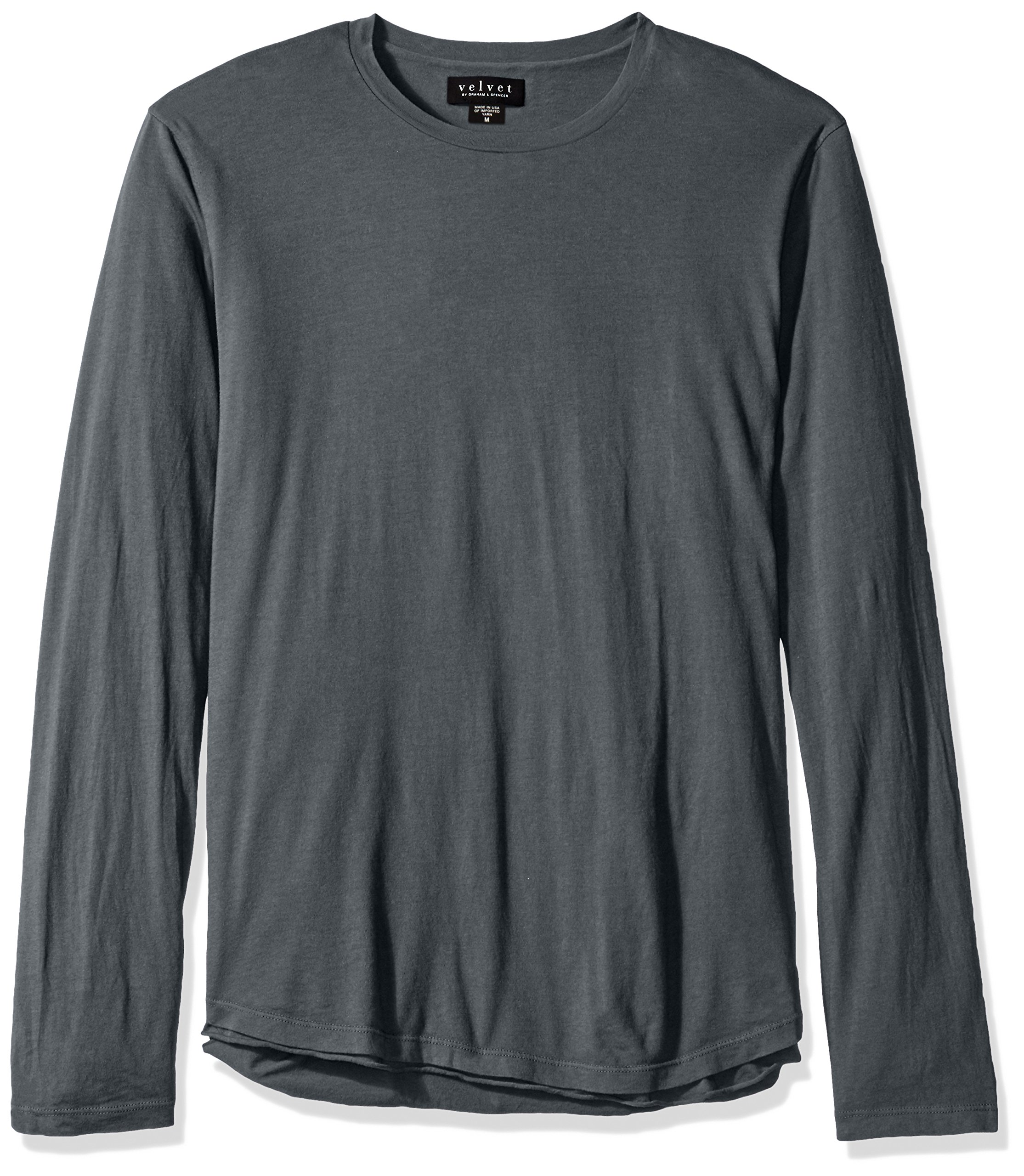 VELVET BY GRAHAM & SPENCER Men's Charleston Double Layer Long Sleeve Shirt, Nile, X-Large